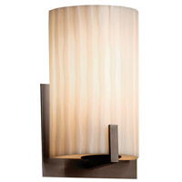 Porcelina 1 Light 6 inch Dark Bronze ADA Wall Sconce Wall Light in Fluorescent, Waterfall