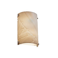 Signature 1 Light 8 inch Polished Chrome Wall Sconce Wall Light in Banana Leaf