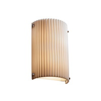 Signature 1 Light 8 inch Brushed Nickel Wall Sconce Wall Light in Pleats