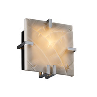Justice Design Porcelina Clips Square Wall Sconce (Ada) in Polished Chrome PNA-5550-BANL-CROM