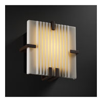 Justice Design Porcelina Clips Square Wall Sconce (Ada) in Dark Bronze PNA-5550-PLET-DBRZ