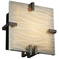 Justice Design Porcelina Clips Square Wall Sconce (Ada) in Black Nickel PNA-5550-WAVE-BLKN photo thumbnail