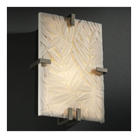 Justice Design Porcelina Clips Rectangle Wall Sconce (Ada) in Antique Brass PNA-5551-BMBO-ABRS
