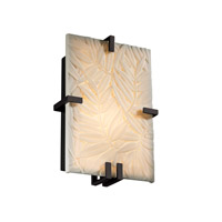 Justice Design Porcelina Clips Rectangle Wall Sconce (Ada) in Matte Black PNA-5551-BMBO-MBLK