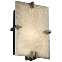 Justice Design Porcelina Clips Rectangle Wall Sconce (Ada) in Brushed Nickel PNA-5551-BMBO-NCKL