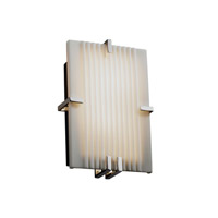 Justice Design Porcelina Clips Rectangle Wall Sconce (Ada) in Polished Chrome PNA-5551-PLET-CROM