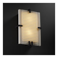 Justice Design Porcelina Clips Rectangle Wall Sconce (Ada) in Matte Black PNA-5551-SLAT-MBLK