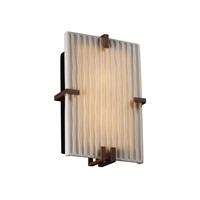 Justice Design Porcelina Clips Rectangle Wall Sconce (Ada) in Dark Bronze PNA-5551-WFAL-DBRZ