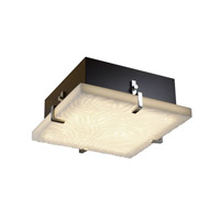 Porcelina 4 Light 17 inch Polished Chrome Flush-Mount Ceiling Light in Bamboo