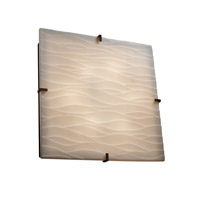 Justice Design PNA-5558-WAVE-DBRZ Signature 6 Light 25 inch Dark Bronze Wall Sconce Wall Light in Waves thumb