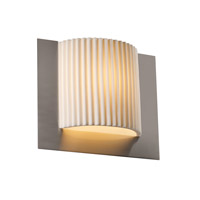 Porcelina 1 Light 12 inch Brushed Nickel ADA Wall Sconce Wall Light in Pleats
