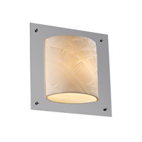 Justice Design Porcelina Framed Square 4-Sided Wall Sconce (Ada) in Polished Chrome PNA-5561-BANL-CROM