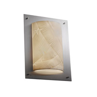 Justice Design Porcelina Framed Rectangle 4-Sided Wall Sconce (Ada) in Brushed Nickel PNA-5563-BANL-NCKL