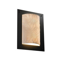 Justice Design Porcelina Framed Rectangle 4-Sided Wall Sconce (Ada) in Matte Black PNA-5563-BMBO-MBLK