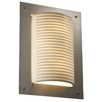 Justice Design Porcelina Framed Rectangle 4-Sided Wall Sconce (Ada) in Brushed Nickel PNA-5563-SLAT-NCKL