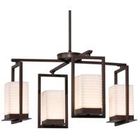 Justice Design PNA-7510W-SAWT-DBRZ Porcelina LED 25 inch Dark Bronze Chandelier Ceiling Light