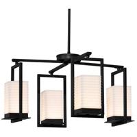 Justice Design PNA-7510W-SAWT-MBLK Porcelina LED 25 inch Matte Black Chandelier Ceiling Light