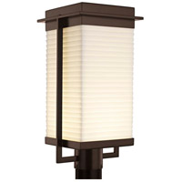 Justice Design PNA-7543W-SAWT-DBRZ Porcelina Pacific LED 18 inch Dark Bronze Outdoor Post Light