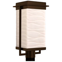 Justice Design PNA-7543W-WAVE-DBRZ Porcelina Pacific LED 18 inch Dark Bronze Outdoor Post Light