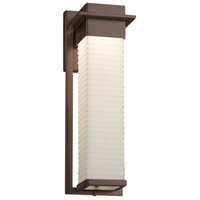 Justice Design PNA-7544W-WFAL-DBRZ Porcelina 17 inch Outdoor Wall Sconce in Dark Bronze