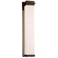 Justice Design PNA-7546W-WAVE-DBRZ Porcelina Pacific LED 7 inch Dark Bronze Wall Sconce Wall Light