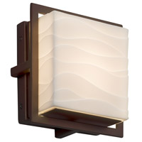Justice Design PNA-7561W-WAVE-DBRZ Porcelina 7 inch Outdoor Wall Sconce