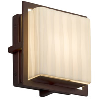 Justice Design PNA-7561W-WFAL-DBRZ Porcelina 7 inch Outdoor Wall Sconce