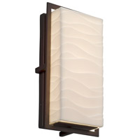 Justice Design PNA-7562W-WAVE-DBRZ Porcelina 12 inch Outdoor Wall Sconce