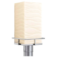 Justice Design PNA-7563W-WAVE-NCKL Porcelina Avalon LED 17 inch Brushed Nickel Outdoor Post Light