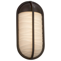 Justice Design PNA-7571W-WAVE-DBRZ Porcelina 12 inch Outdoor Wall Sconce