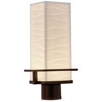 Justice Design PNA-7573W-WAVE-DBRZ Porcelina LED 16 inch Dark Bronze Outdoor Post Light Rectangle