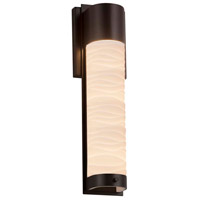Justice Design PNA-7602W-WAVE-DBRZ Porcelina LED 5 inch Dark Bronze ADA Wall Sconce Wall Light