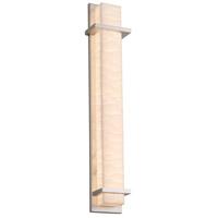 Justice Design PNA-7617W-WAVE-NCKL Porcelina Monolith LED 48 inch Brushed Nickel Outdoor Wall Sconce