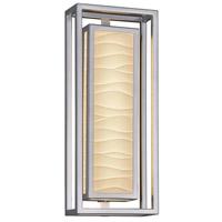 Justice Design PNA-7624W-WAVE-NCKL Porcelina Bayview LED 18 inch Brushed Nickel Outdoor Wall Sconce