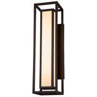 Justice Design PNA-7625W-WAVE-DBRZ Porcelina LED 24 inch Dark Bronze Outdoor Wall Sconce Rectangle
