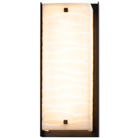 Justice Design PNA-7652W-WAVE-MBLK Porcelina LED 24 inch Matte Black Outdoor Wall Sconce Square