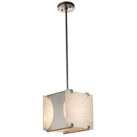 Justice Design Brushed Nickel Porcelina Pendants