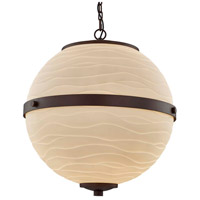 Justice Design PNA-8040-WAVE-DBRZ Porcelina Imperial LED 17 inch Dark Bronze Chandelier Ceiling Light