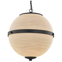 Justice Design PNA-8041-WAVE-MBLK Porcelina Imperial LED 25 inch Matte Black Chandelier Ceiling Light