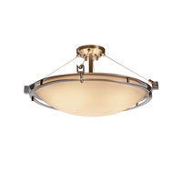 Justice Design Metropolis 6 Light Semi-Flush in Brushed Nickel PNA-8112-35-SMTH-NCKL