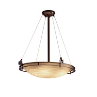 Justice Design Metropolis 6 Light Pendant in Dark Bronze PNA-8122-35-WAVE-DBRZ