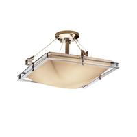 Justice Design PNA-8131-25-PLET-CROM-LED3-3000 Porcelina LED 22 inch Polished Chrome Semi-Flush Ceiling Light