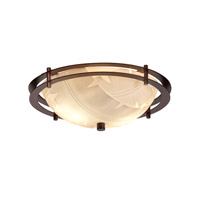 Justice Design Metropolis 2 Light Semi-Flush in Dark Bronze PNA-8150-35-BANL-DBRZ