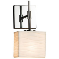 Porcelina 1 Light 6 inch Polished Chrome ADA Wall Sconce Wall Light in Fluorescent, Waves