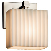 Porcelina 1 Light 6 inch Brushed Nickel ADA Wall Sconce Wall Light in Fluorescent, Pleats