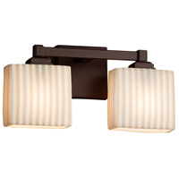Porcelina 2 Light 15 inch Dark Bronze Vanity Light Wall Light in Fluorescent, Pleats