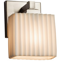 Porcelina LED 6 inch Brushed Nickel ADA Wall Sconce Wall Light in 700 Lm 1 Light LED, Pleats