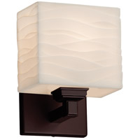 Porcelina 1 Light 6 inch Dark Bronze ADA Wall Sconce Wall Light in Waves, Incandescent