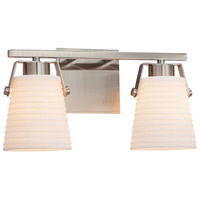 Justice Design PNA-8482-WAVE-DBRZ Porcelina 2 Light 15 inch Dark Bronze Bath Bar Wall Light in Waves, Incandescent