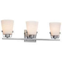 Justice Design PNA-8483-SAWT-CROM-LED3-2100 Porcelina LED 24 inch Polished Chrome Bath Bar Wall Light in 2100 Lm LED, Sawtooth